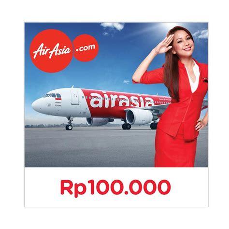 airasia voucher jual airasia electronic gift voucher rp 100 000 online