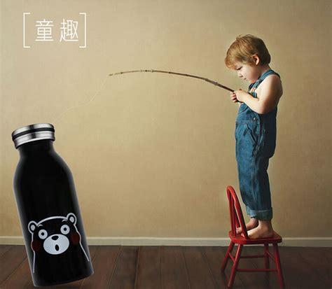 Oem Botol Tumbler Exo 350ml Black botol minum stainless steel anak gambar kartun 350ml