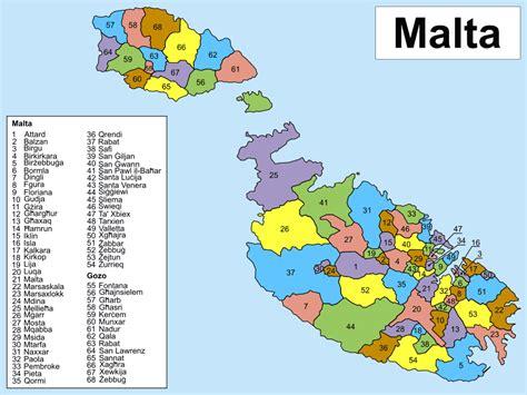 printable road map of malta detailed administrative map of malta malta detailed