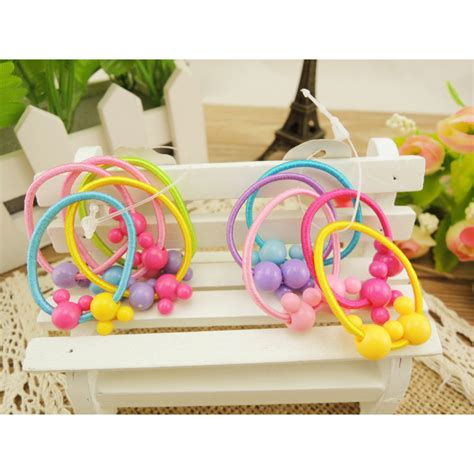 karet ikat rambut model panda 5pcs multi color