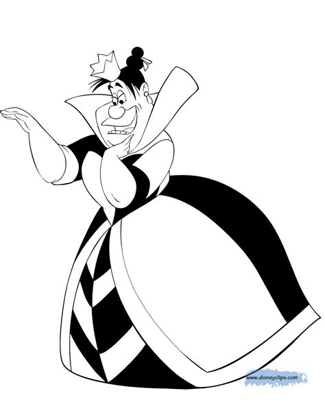 coloring page queen of hearts alice in wonderland coloring pages disney coloring book