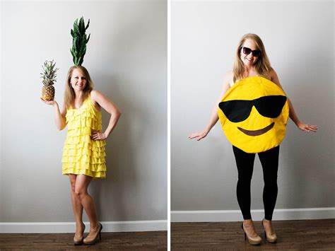 tristinandcompany linky love diy dresses edition diy pineapple and emoji costume from savers all for the