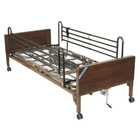 semi electric hospital bed delta ultra light semi electric hospital bed with full rails
