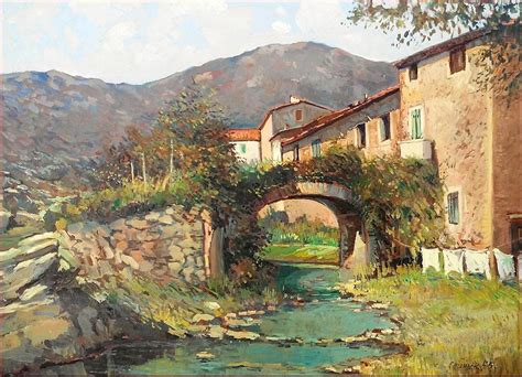 villages in usa ol village in tuscany italy painting by claudio pelissier