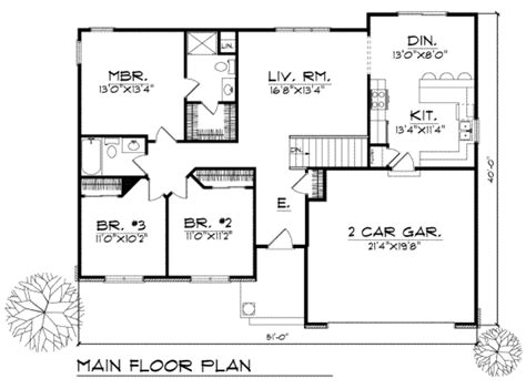 house plan 110 00135 ranch traditional style house plan 3 beds 2 baths 1340 sq ft