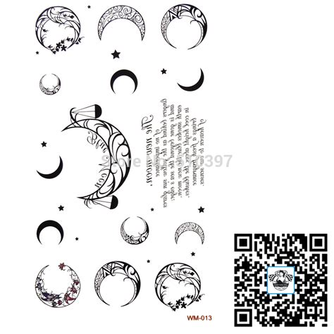 lettere sun 1pc lot wm 013 temporary moon belly kyte palm back