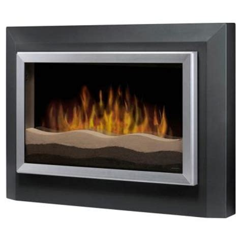 dimplex 40 in wall mount electric fireplace in gray