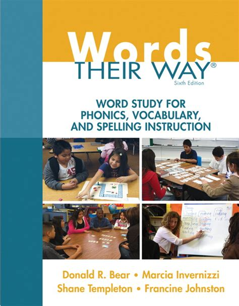 words their way word study for phonics vocabulary and spelling 6th edition words their way series words their way series