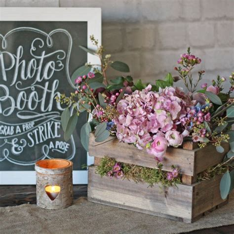 table centerpieces for sale wooden crate box rustic wedding centrepiece wooden