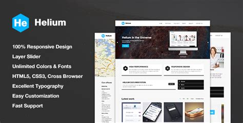 Helium Responsive Html5 Css3 Template By Moosethemes Themeforest Foundation Html5 Templates