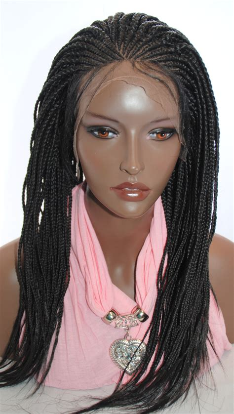 pics of cornrow braided wig hand braided lace front wig in cornrow color 2 in 19 inches