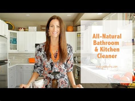all natural bathroom cleaner all natural diy kitchen and bathroom cleaner youtube