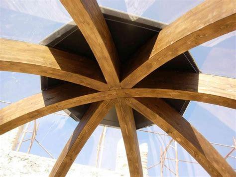 copertura a cupola tetto piano in legno lamellare tetto a padiglione