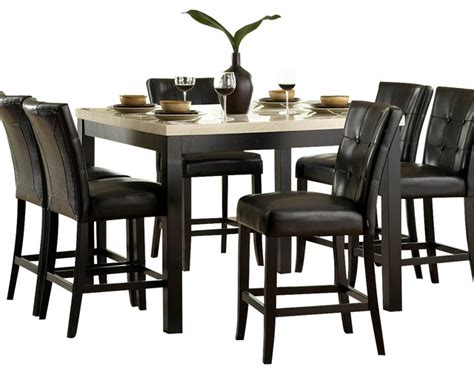 All Black Dining Room Set Homelegance Archstone 5 Counter Height Dining Room