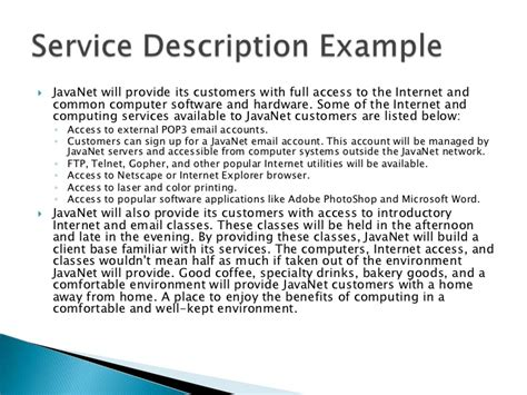 it service definition template business plan session 1 defining the business