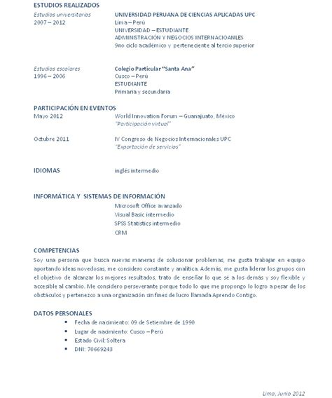 Modelo Curriculum Funcionario Cv Documentado Los Libros Resumidos De Resumelibros Tk