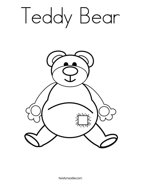 teddy bear holding heart coloring pages