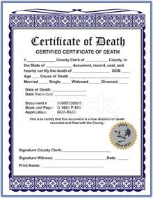 Blank Certificate of Death Stock Photos   FreeImages.com