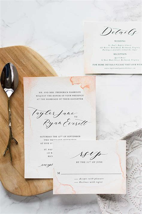 Make Your Own Watercolor Paper - subtle watercolor wedding invitations how to make your
