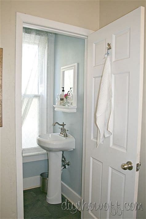 Half Closet by Powder Room Before And After Makeoverdiy Show Diy