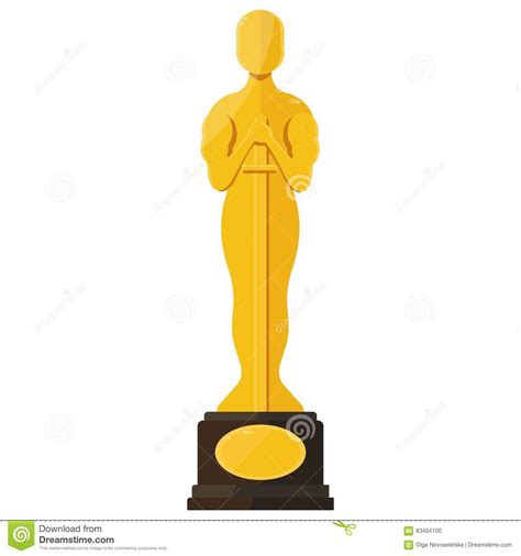 film cartoon oscar oscar film festival award stock vector image of gold