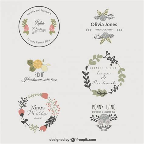 Logo Design Vorlagen Premium Blumen Logo Vorlagen Der Kostenlosen Vektor