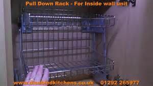Kitchen Cabinets Slide Out Shelves pull down rack pull down kitchen shelves youtube