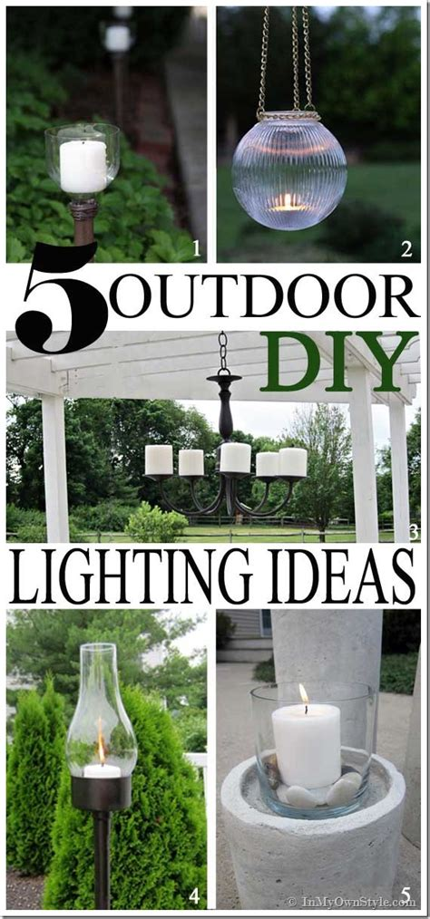 diy outdoor lighting myideasbedroom com