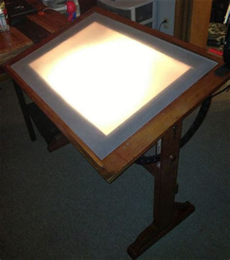Backlit Drafting Table Antique Inspired Drawing Table W Built In Lightbox
