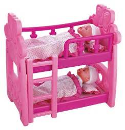 Baby Doll Bunk Beds Childrens Pretend Play Baby Dolls Doll House Bedroom Bunk Bed Crib Ebay