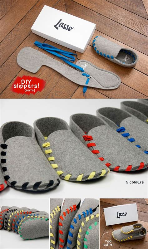 lasso diy felt slippers techlovedesigncom design