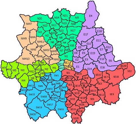 map uk zip codes post code map map of political regional