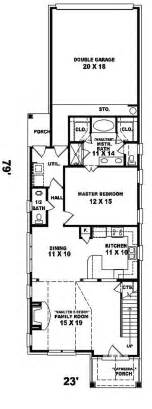 Floor Plans For Narrow Lots Enderby Park Narrow Lot Home Plan 087d 0099 House Plans