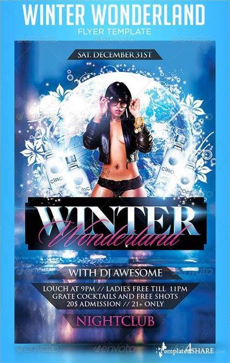 Graphicriver Winter Wonderland Flyer Template 187 Templates4share Com Free Web Templates Themes Winter Flyer Template