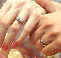 wedding and engagement rings wedding and engagement rings which one goes
