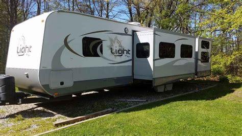 open range light travel trailer 2014 used open range light 308bhs travel trailer in