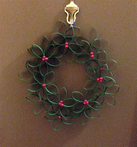 Toilet Paper Roll Wreath Craft - grogg s blogg
