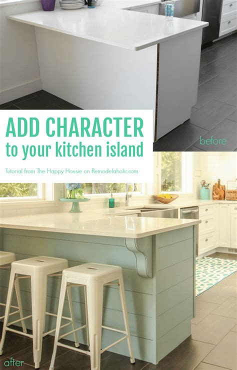 how to add a kitchen island remodelaholic update a plain kitchen island or peninsula
