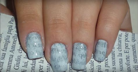 How To Make Nail Designs With Paper - make newspaper print nail designs perfectly 9 easy