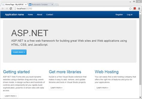 net asp net tutorial getting started with one asp net project visual studio