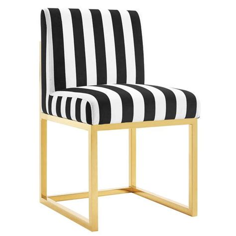 Black And White Striped Chairs by Black And White Stripe Velvet Armless Chair