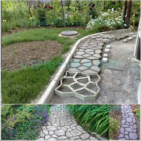 lyine diy plastic driveway patio random concrete stepping