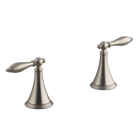Kohler Finial Deck Mount Bath Faucet K 8673t 4m Cp kohler finial 2 handle deck mount tub faucet in vibrant brushed nickel k t333 4m bn the