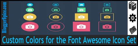 font awesome color custom colors for the font awesome icon set