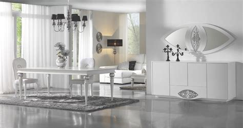 silver dining room luxury high gloss white silver dining room set