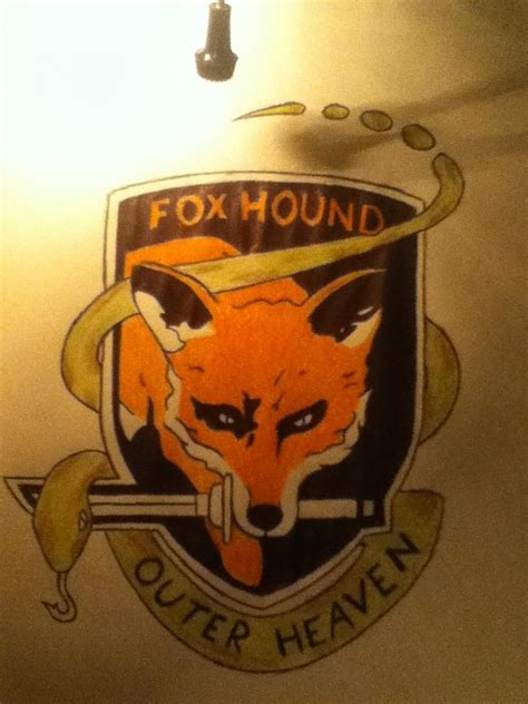 foxhound tattoo metal gear solid foxhound 41463 notefolio