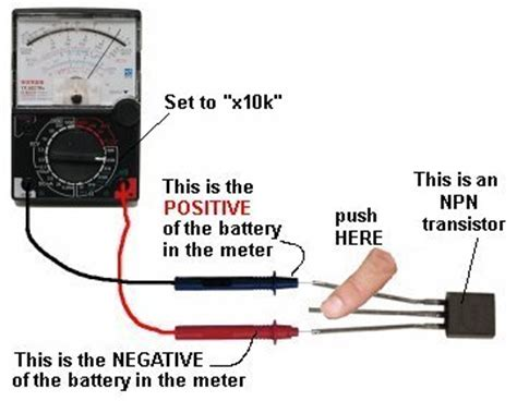 npn transistor testing using multimeter basic electronics 1a