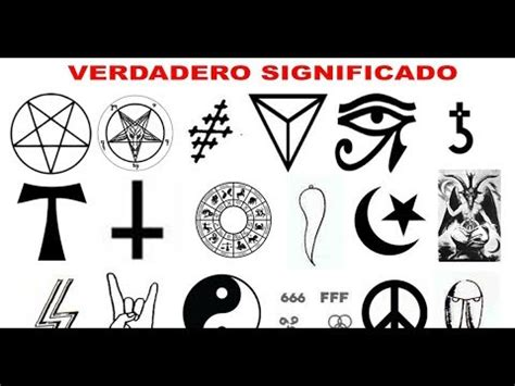 imagenes de simbolos y que significa simbolos satanicos y su significado usted los ha visto y