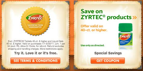 Zyrtec Sweepstakes - over 6 in zyrtec coupons