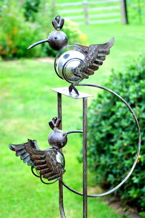 rocking hummingbirds balancing garden ornament 163 25 99
